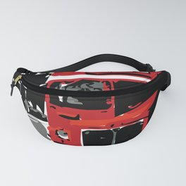 Big Ben London Red Double Decker Bus Fanny Pack