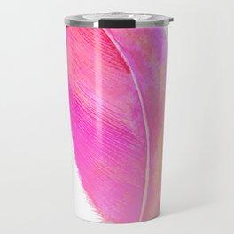 Pink Feather 01 Travel Mug