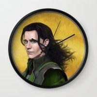 loki Wall Clocks featuring Loki by Slugette