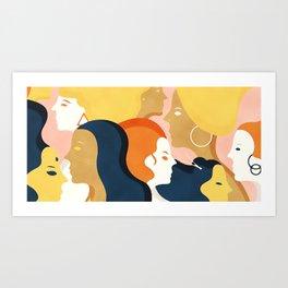 Global #Girlpower - we persist Art Print