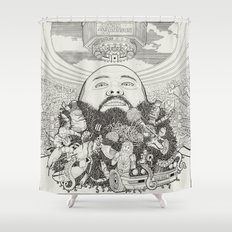 ACTION BRONSON Shower Curtain
