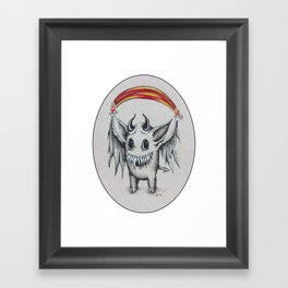 Happy Rainbow of Hellfire Framed Art Print