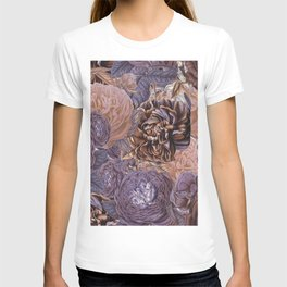 Vintage & Shabby-chic - floral purple roses flowers rose flower T-shirt