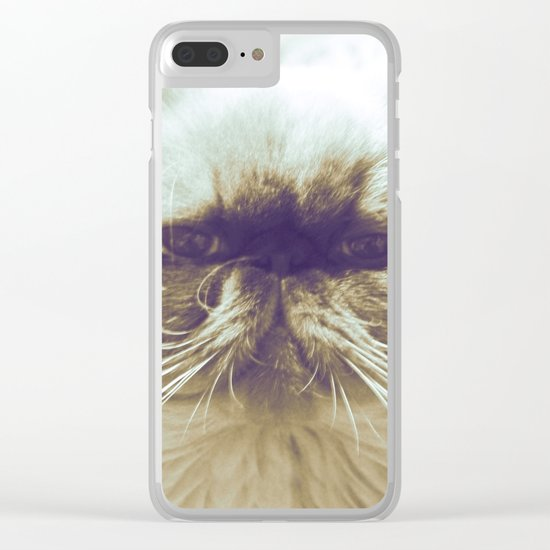 EXOTIC CAT Clear iPhone Case