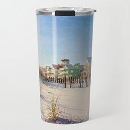 Colorful Beach Houses Travel Mug