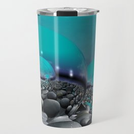 refraction of light - turquoise Travel Mug