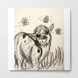 Beautiful Baby Goat Metal Print