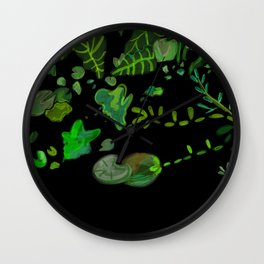 Lilly Pond at the Conservatory of Flowers In San Francisco Wall Clock