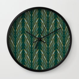 Wheat Grass Teal Wall Clock