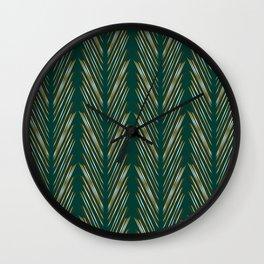 Wheat Grass Teal Wall Clock