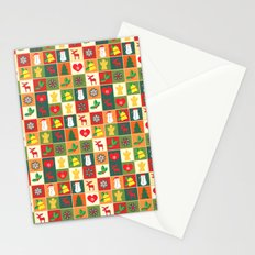 Merry christmas pattern #society6 Stationery Cards