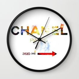 French Fashion Wall Clock