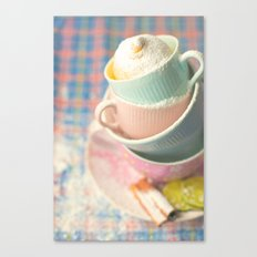 Teacup tower Canvas Print