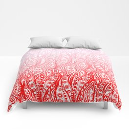 Distorted Dream Print (Pink/Red) Comforters