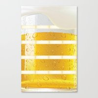 beer Canvas Prints featuring BEER by Ylenia Pizzetti