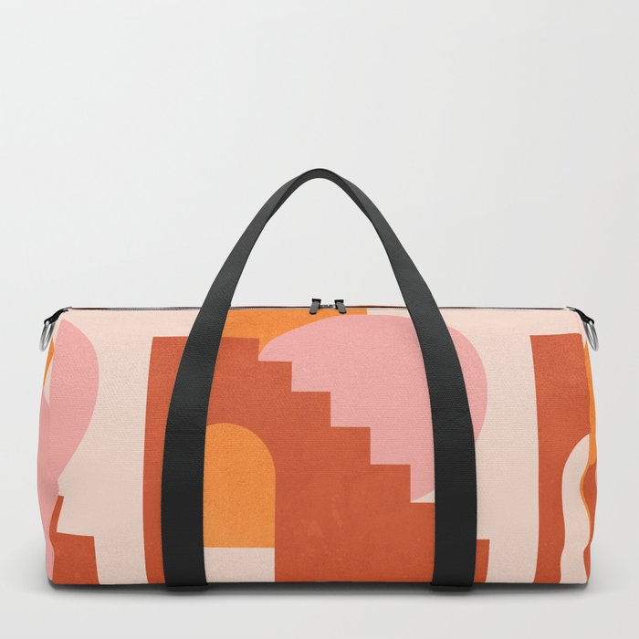 Abstraction_SHAPES_COLOR_Minimalism_003 Duffle Bag