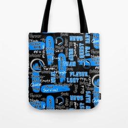 Gamer Lingo-Black and Blue Tote Bag