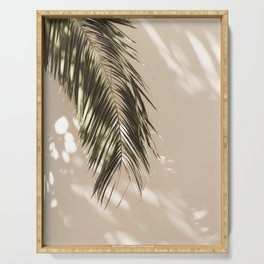 tropical palm leaves vi Serving Tray