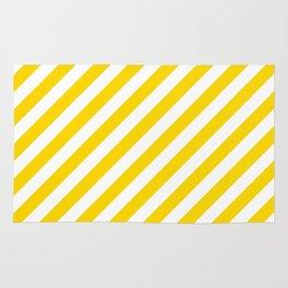 Diagonal Stripes (Gold/White) Rug