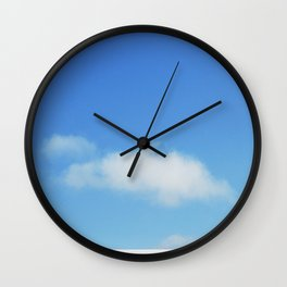 Snow and clouds in Iceland Wall Clock