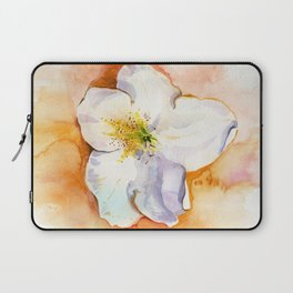 Rhododendron flower on a table. Watercolor.  Laptop Sleeve