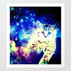 Chill In Space Art Print