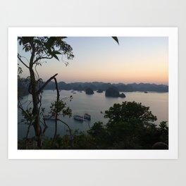view of halong bay Art Print