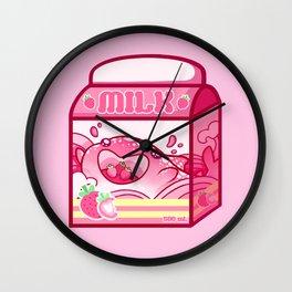Strawberry Milk Wall Clock