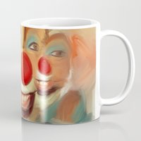 clown Mugs featuring clown by robotrake