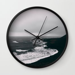 Black Beaches Wall Clock