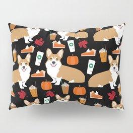 Corgi - Pumpkin Spice, psl, coffee, latte, pumpkin pie,  fall, autumn, holiday, Pillow Sham