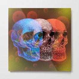 Psychodelic Pop art skulls Metal Print