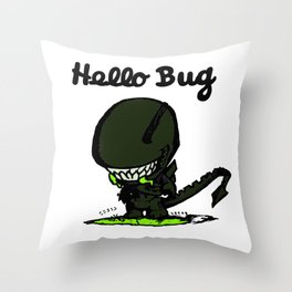 Hello Bug Throw Pillow