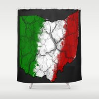 ohio Shower Curtains featuring Ohio Italian by AJF89