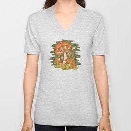 Forest of Mushrooms Unisex V-Neck