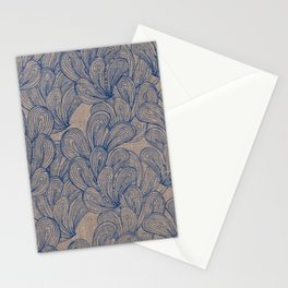 Palmiers Print - Indigo Stationery Cards