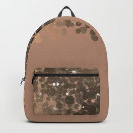 Honey Beige Golden Sparkle Lights Backpack