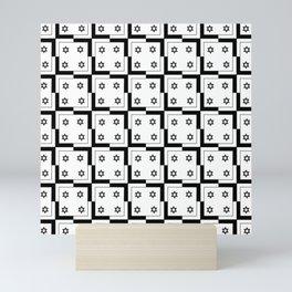 optical pattern 56 magen david Mini Art Print
