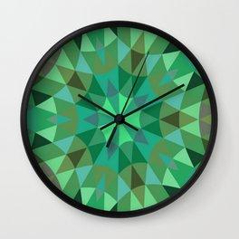 Green Retro Geometry Wall Clock