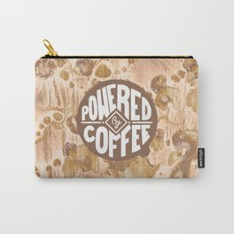powered by coffee cream Carry-All Pouch