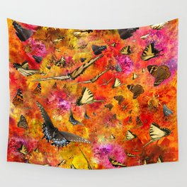 Butterfly City Wall Tapestry