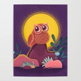 night guard. cute owl Poster