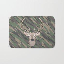 Beautiful buck dear head with big antlers Bath Mat