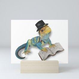 Scholarly Lizard Mini Art Print