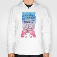 roald dahl Hoodies featuring Good Thoughts Watercolour by Laurel Mae
