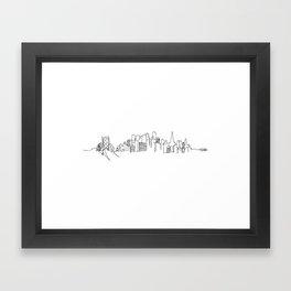 San Francisco Skyline Drawing Framed Art Print