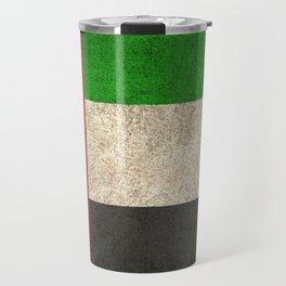 Old and Worn Distressed Vintage Flag of United Arab Emirates Travel Mug
