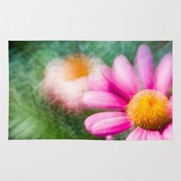 Colorful macro flower Rug