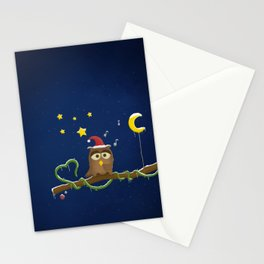 Little Owl - Christmas Time Stationery Cards