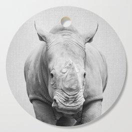 Rhino 2 - Black & White Cutting Board